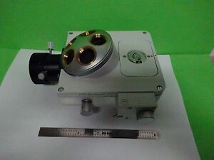 Microscope Part Leitz Germany Nosepiece Vertical Illum Optics As Is Bin w7 95