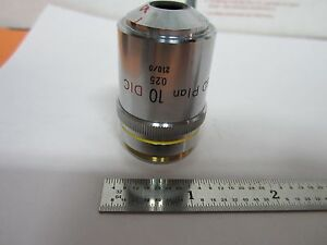 Nikon Dic Objective Microscope 10x Bd Plan Optics Nomarski Bin 1e p 19