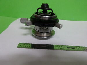 Microscope Ortholux Ernst Leitz Germany Condenser Diaphragm Iris As Is af e 55