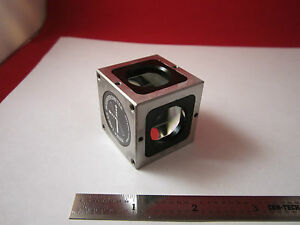 Optical Interferometer Hp 10702a Beam Splitter Cube Laser Optics Bin 1