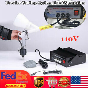 Portable Powder Coating System Paint Spray Gun Electrostatic Powder Coating 110v