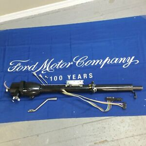 Black Tilt Steering Column For 1967 1979 Ford Truck 33 Keyed Col New Auto