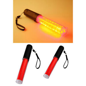 26cm Led Traffic Safety Baton Light Wand Traffic Control Signs Lights pack 2