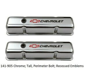 Proform 141 905 Chevrolet Performance Parts Engine Valve Covers Chrome