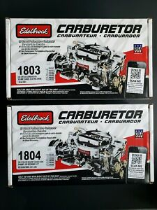 Edelbrock Avs Series Dual Quad Carb 500 Cfm Manual And Electric Choke