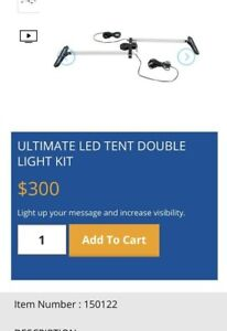 Led Display Light Kit Dual Light Clamp Mount Promotional Products Trade Shows