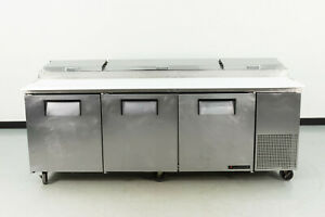 Used True Tpp 93 93 3 Door Refrigerated Pizza Prep Table