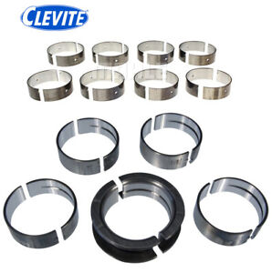 Clevite 77 Cb634p Ms590p Main Rod Bearings Set Kit For Ford Windsor 289 302 5 0l
