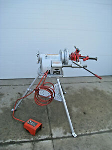 Ridgid 300 T2 Power Pipe Threader Threading Machine W Complete Carriage Used