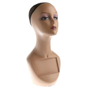 Female Mannequin Head Bust Wig Hat Jewelry Display Model Stand W Net