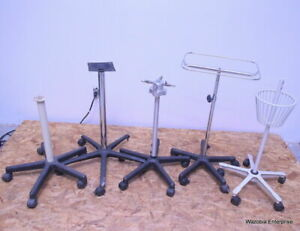 Lot Of 5 Medical Instruments Stand Pole Alaris Dinamap Welch Allyn