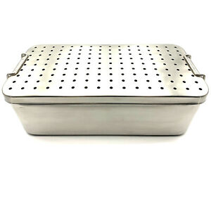 Stainless Steel Sterilization Tray 14 X 7 X 4 1 2