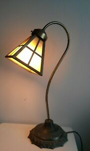 Vintage Gooseneck Craftsman Mission Table Lamp