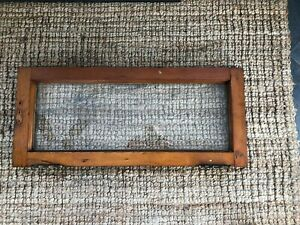 1900s Maybe Vintage Antique Transom Window Frame Glass Original