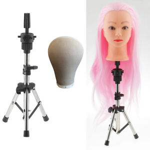 22 Cork Head Canvas Cover Wig Making Set Mannequin Holder Stand