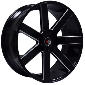 26 Wheels Tires Rims Black Milled Concave Baller 6 Style Fit Dodge Ram 1500