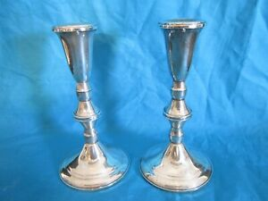 Vintage Sterling Silver Duchin Creation Weighted Candlesticks Candle Holders