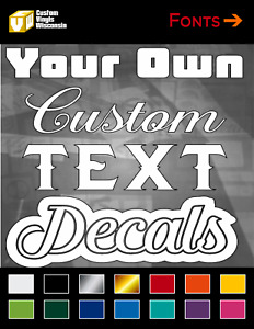 Custom Text Vinyl Decal Sticker Window Decals For Car Truck Toolbox 1 8 Height