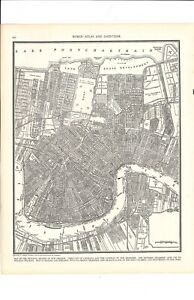 1947 Vintage Downtown New Orleans Louisiana Map Ready To Frame For Art