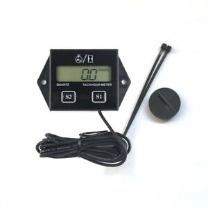 Motorcycle Motorbike Lcd Digital Racing Spark Plug Engine Tach Hour Meter Gauge