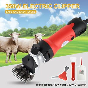 Electric Sheep Goat Shears Fram Supplies Animal Livestock Grooming Clipper Red