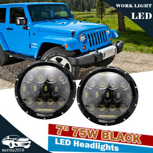 7 Inch Black 150w Led Headlight Hi lo Beam For Jeep Wrangler Jk Jku 1997 2017