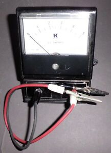 Analog Dc 5 Amperes Meter C w Measuring Leads On off Switch