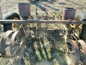 2 Two Row John Deere Planters Parts Only Yard Art