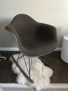 Authentic Vintage Eames Herman Miller Fiberglass Shell Chair Fabric Cover