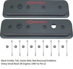 Proform 141 131 Black Crinkle Tall Center Bolt Red Recessed Emblems