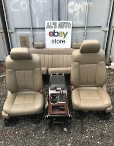 09 14 Ford F150 Extended Cab Tan Leather Seats Full Set Power Heated Console Oem