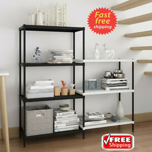 4 3 tier Metal Wire Utility Kitchen Storage Rack Bookshelf Adjustable Organizer