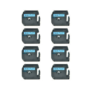 8pk Black On Blue Lable Tape Mk531 M531 M k531 For Brother P touch 110 55bm 65sl