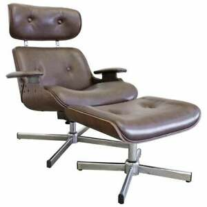 Mid Century Modern George Mulhauser Plycraft Swivel Lounge Chair