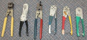 Lot Of 7 Crimping Tools Amp Hollingsworth Buchanan Tools Winchester Varalok