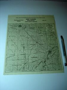 Antique Grand Rapids Wood County Wi Plat Advertising Map