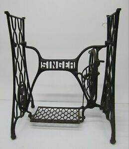 Antique Cast Iron Singer Sewing Machine Treadle Table Desk Base Repurpose