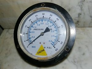 Cherne 0 60 Psi Gauge With 4 Dial Part 087 602