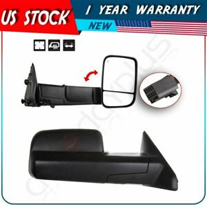 For 2009 12 Dodge Ram 1500 Truck Side View Mirrors Power Heated Towing Pair Set