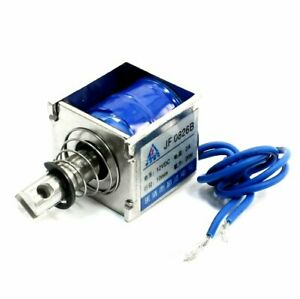 3pcs Dc12v 2a 20n 10mm Pull Push Type Linear Motion Solenoid Electromagnet