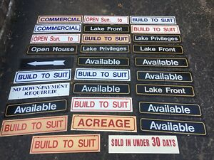 Real Estate Sign Lot Rider Double Sided Lake Available Build For Sale Realtor