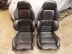 Bmw E36 Black Leather M3 Vader Front Seats 92 99 323i 325i 328i M3