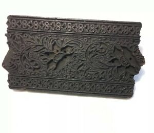 Antique Wood Paint Wall Paper Pattern Printing Block Stamp Stencil Dye Free Sh