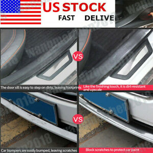 Car Parts Accessories Carbon Fiber Warp Door Plate Cover Anti Scratch Sticker
