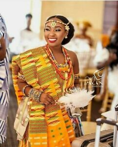 Kente Handwoven Ghana African Royal Cloth For Weddings And Other Cultural Events
