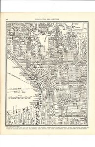 1947 Vintage St Louis Missouri Map Ready To Frame For Art