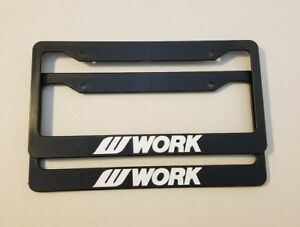 2 Work Wheels License Plate Frame Emotion Equip Vs Meister Gnosis Varianza Ls