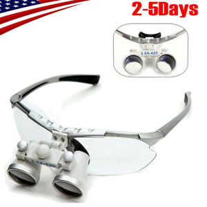 Pro Dental Surgical Binocular Loupes 3 5x 420mm Optical Glass Magnifier 2019