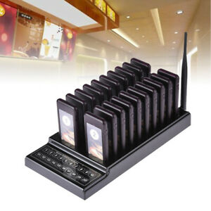 20 Restaurant Coaster Pager Guest Call Wireless Paging Queuing Calling System