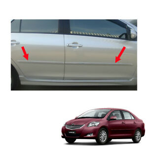 Body Cladding Side Molding Guard Painted Fit Toyota Vios Yaris Belta 2007 13